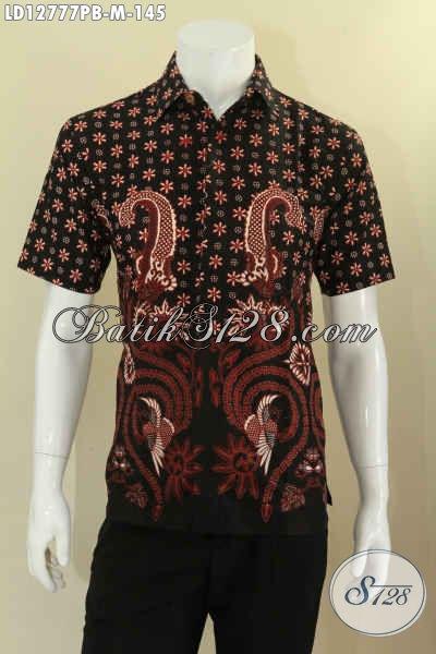 Baju Batik Kawula Muda Motif Keren Bahan Halus Jenis Printing, Kemeja Batik Solo Asli Pas Banget Untuk Seragam Kerja Kantor [LD12777PB-M]