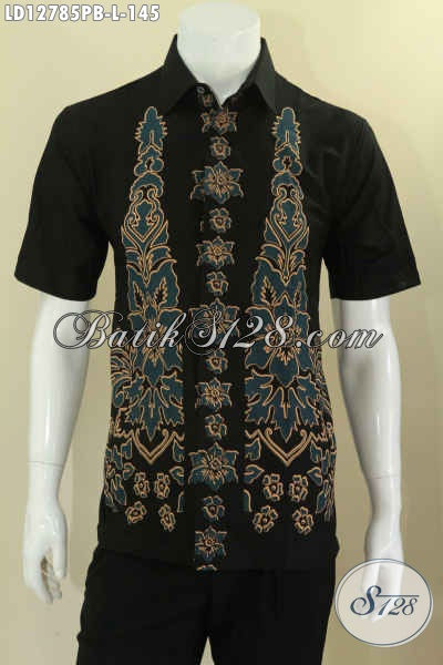 Baju Batik Keren Kwalitas Bagus Khas Jawa Tengah, Kemeja Batik Cowok Motif Kekinian Jenis Printing Cabut, Pilihan Tepat Untuk Gaul Dan Seragam Kerja [LD12785PB-L]