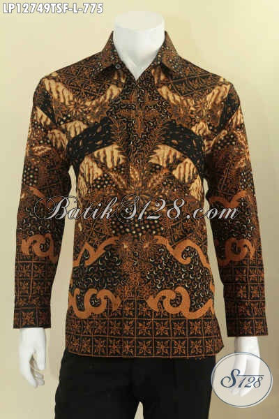 Juragan Baju Batik Online Khas Solo, Jual Kemeja Lengan Panjang Batik Tulis Motif Terbaru Daleman Full Furing, Pas Untuk Kerja Dan Ke Kondangan [LP12749TSF-L]