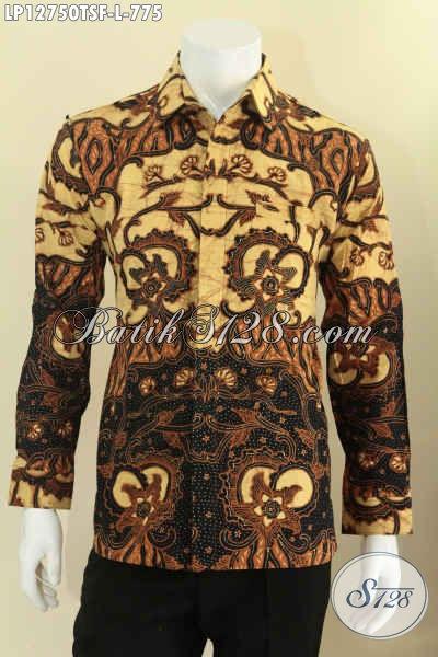 Koleksi Terbaru Busana Batik Pria Lengan Panjang Tulis Motif Elegan, Kemeja Batik Istimewa Pakai Furing Untuk Penampilan Lebih Sempurna [LP12750TSF-XL]