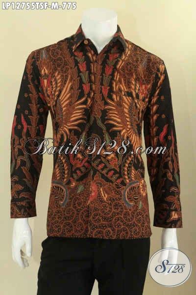 Produk Pakaian Batik Mewah Khas Eksekutif, Kemeja Batik Solo Premium Motif Bagus Proses Tulis Model Lengan Panjang Pakai Furing, Pilihan Terbaik Untuk Penampilan Nan Sempurna [LP12755TSF-M]