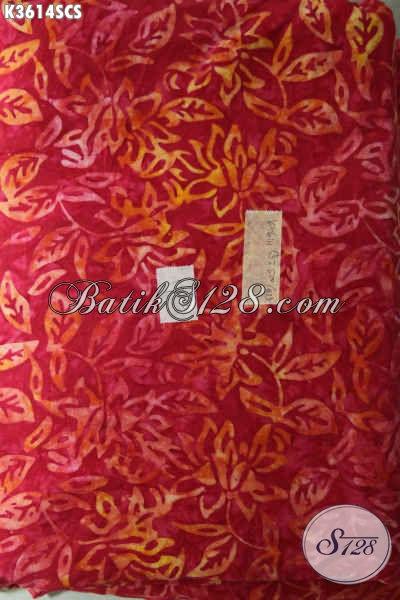 Jual Kain Batik Santung Khas Jawa Tengah Motif Trendy Kwalitas Istimewa Dengan Harga Murah Meriah [K3614SCS-200x105cm]