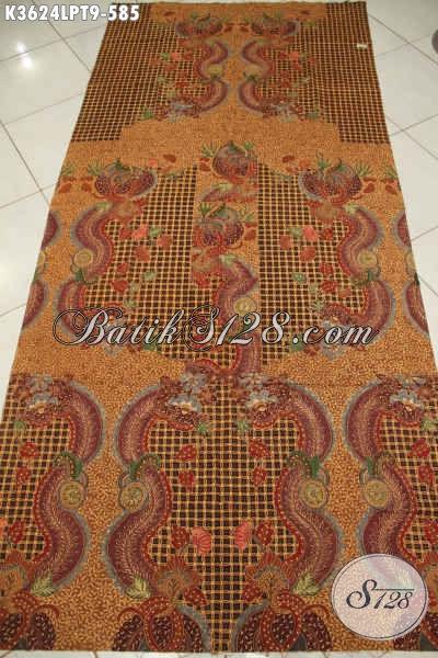 Jual Kain Batik Istimewa Jenis Tulis Motif Mewah Dan Berkelas, Batik Premium Pola Kemeja Lengan Panjang Cocok Untuk Busana Pejabat Dan Eksekutif [K3624LPT-240x110cm]