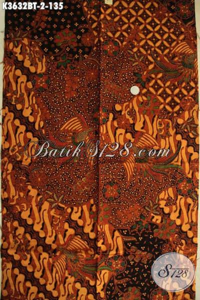 Kain Batik Halus Jenis Kombinasi Tulis Motif Elegan Klasik Bahan Busana Resmi Nan Berkelas, Hadir Dengan Kwalitas Istimewa Dan Harga Terjangkau [K3632BT-240x110cm]
