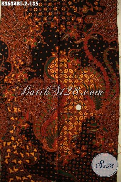 Koleksi Kain Batik Solo Terkini Bahan Aneka Busana Wanita Pria Jenis Kombinasi Tulis Motif Elegan, Pas Banget Untuk Baju Kerja Dan Acara Resmi [K3634BT-240x110cm]