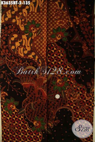 Pusat Batik Online Jawa Tengah, Jual Kain Batik Kombinasi Tulis Kwalitas Istimewa Berpadu Motif Terkini Nan Elegan, Bisa Untuk Busana Kerja Dan Acara Resmi Wanita Pria [K3635BT-240x110cm]