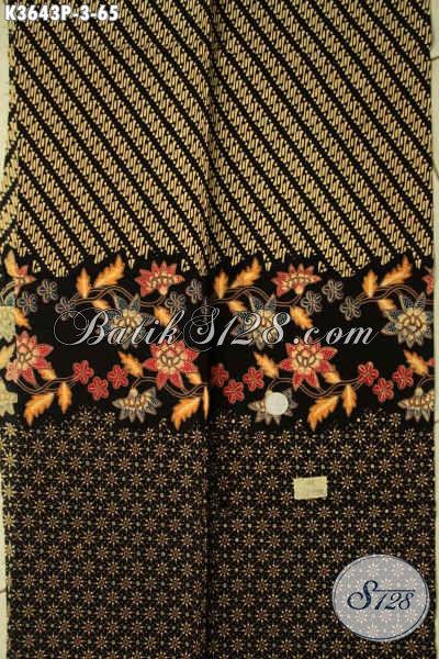 Kain Batik Bahan Baju Atasan Wanita Maupun Pria, Batik Solo Halus Jenis Printing Motif Modern Kwalitas Istimewa Harga Murah Meriah [K3643P-200x110cm]