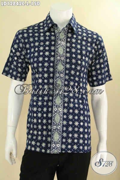 Baju Batik Trendy Lengan Pendek Motif Terbaru Yang Banya Di Sukai Kawula Muda, Kemeja Batik Modern Untuk Kerja Dan Jalan-Jalan Tampil Stylish [LD12842C-L]