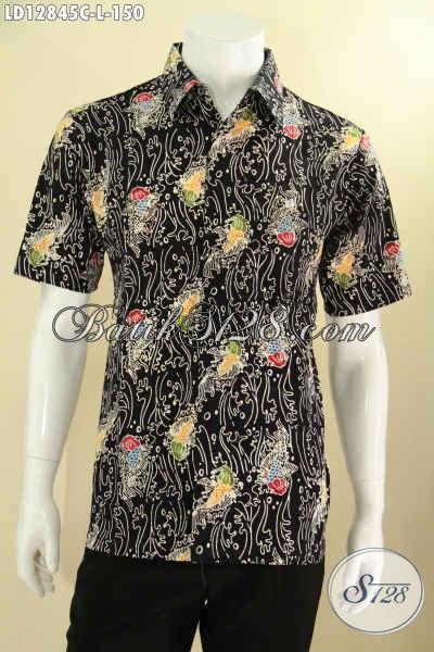 Hem Batik Kekinian Untuk Pria Muda Maupun Dewasa, Kemeja Batik Halus Motif Unik Jenis Cap Bahan Nyaman Di Pakai, Tampil Gagah Dan Tampan [LD12845C-L]
