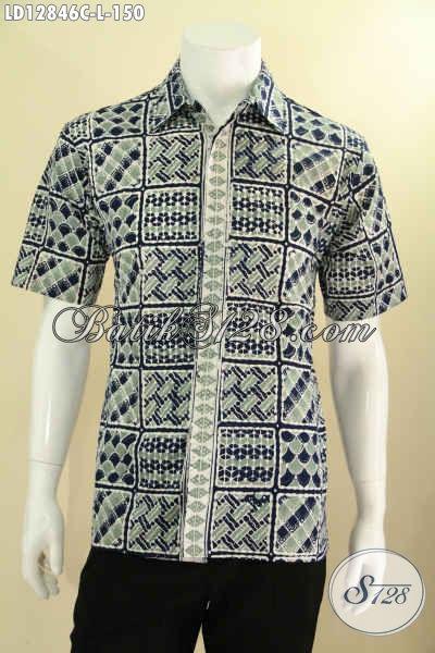 Kemeja Batik Solo Keren Kwalitas Bagus Model Dan Motif Terbaru, Busana Batik Pria Masa Kini Yang Bikin Penampilan Terlihat Tampan Menawan [LD12846C-L]