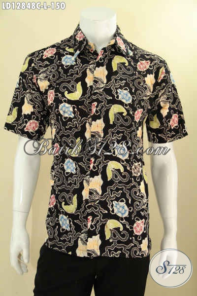 Kemeja Batik Cowok Terbaru Motif Keren Kwalita Bagus Harga Terjangkau, Baju Batik Modern Jenis Cap, Pilihan Terbaik Untuk Acara Santai Dan Jalan-Jalan [LD12848C-L]