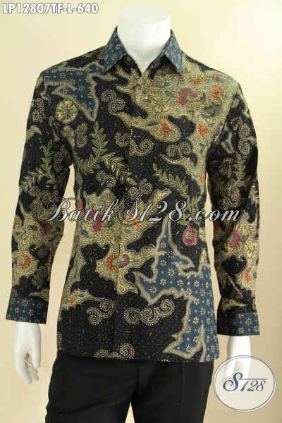 Batik Kemeja Pria Lengan Panjang Full Pakai Furing Desain Mewah Moti Terbaru Proses Tulis, Baju Batik Istimewa Yang Membuat Penampilan Lebih Gagah Berwibawa [LP12807TF-L]