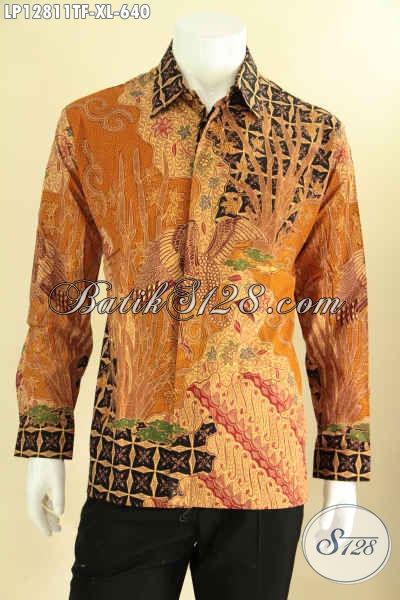 Kemeja Batik Pria Dewasa Lengan Panjang Tulis Asli, Busana Batik Premium Motif Terbaru Daleman Full Furing, Pas Banget Untuk Acara Resmi Maupun Ke Pernikahan [LP12811TF-XL]