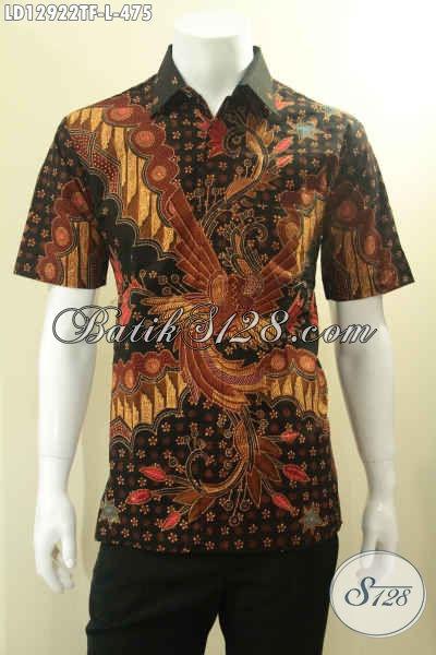 Kemeja Batik Pria Lengan Pendek Istimewa Jenis Tulis Daleman Full Furing, Siap Untuk Baju Kerja Dan Acara Pernikahan [LD12922TF-L]