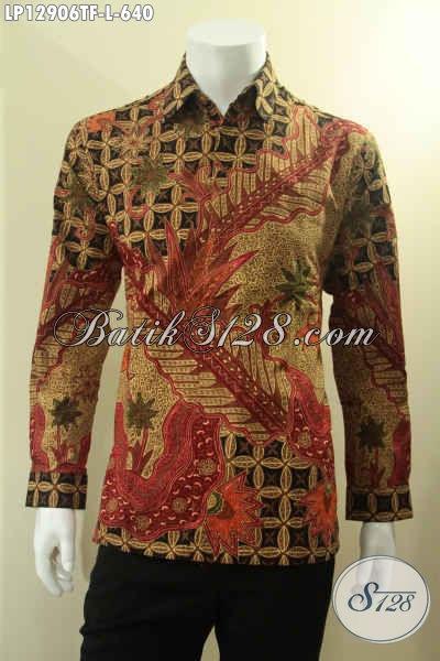 Kemeja Batik Tulis Modern Klasik Lengan Panjang Mewah Dengan Daleman Full Furing, Busana Batik Pria Muda Dan Dewasa Yang Menunjang Penampilan Lebih Berkelas [LP12906TF-L]