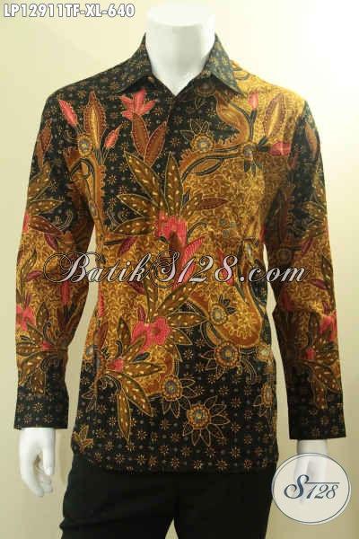Pusat Baju Batik Solo Masa Kini, Jual Online Kemeja Lengan Panjang Mewah Pakai Furing, Baju Batik Pria Nan Istimewa Motif Terbaru Bahan Halus Nyaman Di Pakai Hanya 600 Ribuan [LP12911TF-XL]