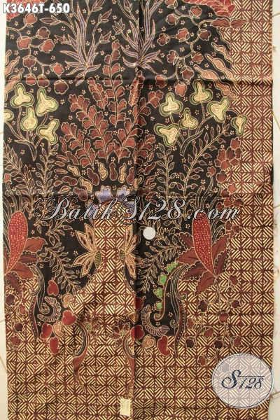 Jual Kain Batik Premium Motif Elegan Cocok Untuk Busana Batik Mewah Dan Berkelas, Bahan Halus Jenis Tulis Hanya 600 Ribuan [K3646T-240x110cm]