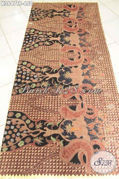 Kain Batik Bahan Kemeja Pria Lengan Panjang, Batik Halus Khas Solo Jenis Tulis Motif Elegan, Cocok Juga Untuk Pakaian Wanita [K3647T-240x110cm]