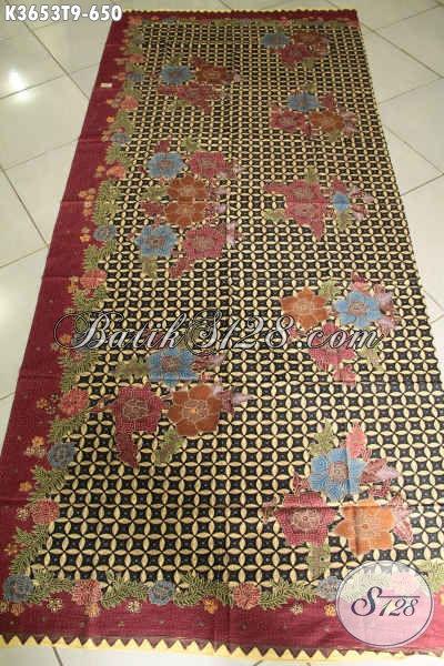 Produk Kain Batik Solo Jenis Tulis Motif Terbaru, Batik Mewah Khas Jawa Tengah Bahan Aneka Busana Resmi Wanita Dan Pria Hanya 650K [K3653T-240x110cm]