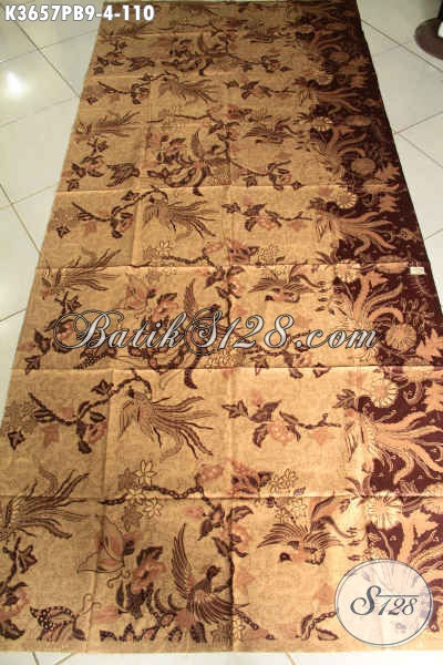 Produk Kain Batik Untuk Busana Wanita Kerja, Batik Halus Motif Terkini Jenis Print Cabut Asli Solo, Cocok Juga Untuk Kemeja Pria Lengan Panjang [K3657PB-240x110cm]