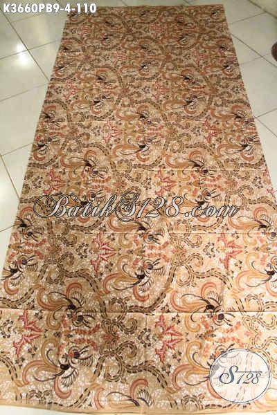 Toko Batik Online Dengan Koleksi Terlengkap, Jual Kain Batik Halus Motif Terbaru Jenis Print Cabut, Bahan Pakaian Wanita Pria Baik Untuk Kerja Maupun Acara Resmi [K3660P-240x110cm]