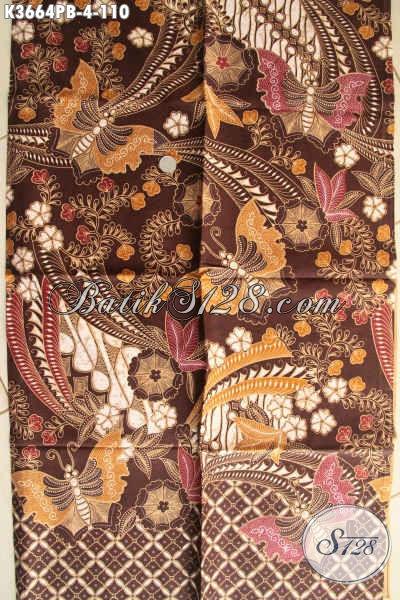 Produk Terkini Kain Batik Bahan Busana Wanita Nan Elegan Dan Berkelas, Hadir Dengan Motif Tren Masa Kini Jenis Print Yang Anti Luntur, Cocok Juga Untuk Busana Pria [K3664PB-240x110cm]