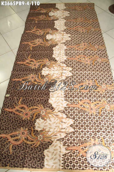 Kain Batik Bahan Busana Kerja Maupun Baju Kondangan, Batik Halus Motif Elegan Jenis Print Cabut Khas Solo, Di Jual Online 110K [K3665PB-240x110cm]