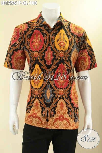 Toko Pakaian Batik Solo Online Lengkap Dan Terpercaya, Busana Batik Pria Masa Kini Yang Bikin Penampilan Lebih Gagah Berkelas [LD12961P-XL]