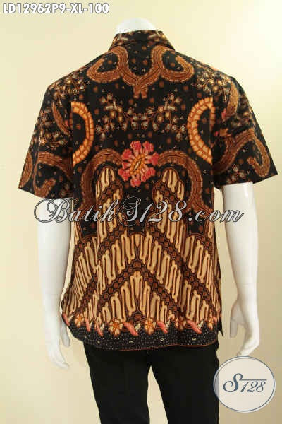 Busana Batik Pria Dewasa Motif Klasik Model Lengan Pendek Bahan Halus Nyaman Di Pakai, Kemeja Batik Solo Jenis Printing Cocok Untuk Kondangan Maupun Seragam Kerja [LD12962P-XL]