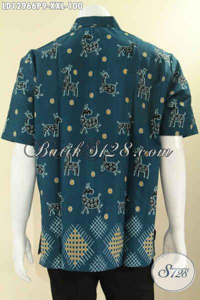 Toko Online Baju Batik Paling Terpercaya, Sedia Kemeja Lengan Pendek Batik Printing Motif Keren Kwalitas Istimewa Dengan Harga Biasa, Spesial Untuk Pria Gemuk [LD12966P-XXL]