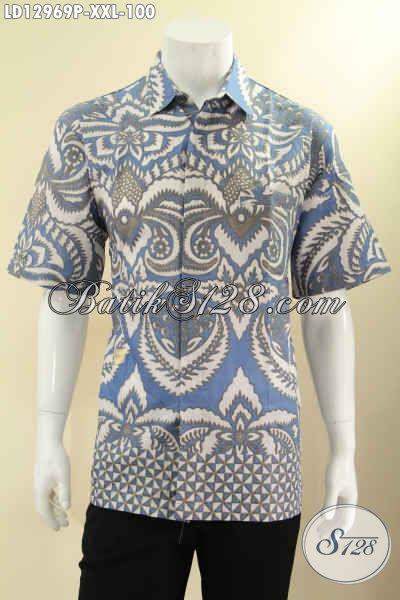 Toko Pakaian Batik Online Koleksi Terlengkap Dan Terpercaya, Sedia  Baju Batik Lengan Pendek Spesial Untuk Pria Gemuk Motif Terkini Bahan Halus Yang Nyaman Di Pakai [LD12969P-XXL]