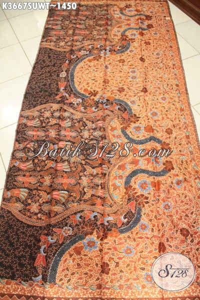 Jual Kain Batik Premium Tulis Sutra Twis Buatan Solo Asli, Batik Exclusive Bahan Busana Mewah Dan Berkelas Kesukaan Pejabat Dan Eksekutif [K3667SUWT-240x105cm]