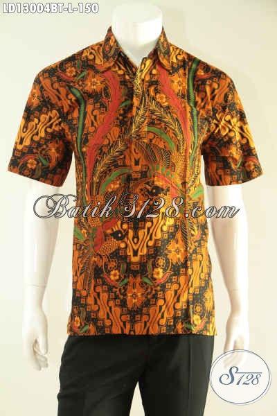 Kemeja Batik Lengan Pendek Pria Kantoran, Busana Batik Halus Motif Bagus Kwalitas Istimewa Hanya 100 Ribuan Saja [LD13004BT-L]