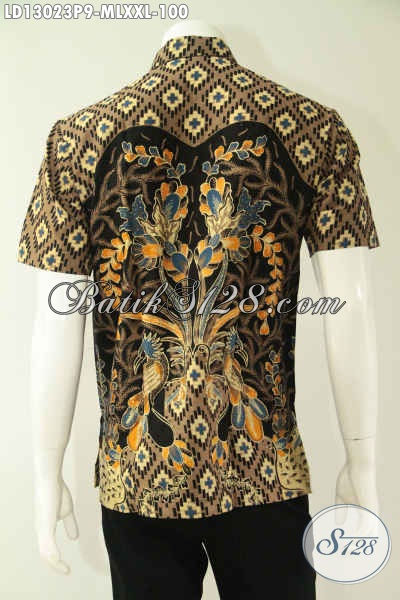 Aneka Busana Batik Pria Tren Masa Kini, Baju Batik Kerja Modis Model Lengan Pendek Berkwalitas Istimewa Namum Dengan Harga Yang Terjangkau [LD13023P-M , L , XXL]