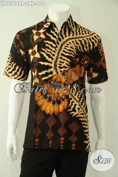 Koleksi Terkini Kemeja Batik Solo Lengan Pendek Kwalitas Istimewa Motif Bagus Dan Berkelas, Busana Batik Modern Yang Modis Untuk Kerja Maupun Acara Resmi Hanya 100K [LD13028P-L]