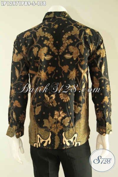 Busana Batik Formal Lengan Panjang Motif Bagus Motif Terkini, Kemeja Batik Pria Muda Terbaru Pas Untuk Acara Resmi Tampil Gagah Berwibawa [LP12971PB-S]
