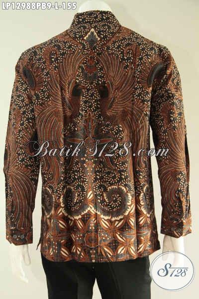 Kemeja Batik Solo Terbaru Lengan Panjang Khas Solo Motif Bagus, Baju Batik Pria Nan Istimewa Namun Dengan Harga Biasa, Cocok Untuk Acara Resmi [LP12988PB-L]