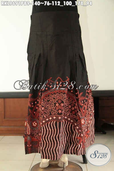 Produk Terkini Rok Batik Model Klok Kwalitas Bagus Berpadu Motif Tren Masa Kini Jenis Print Cabut Dan Juga Di Lengkapi Karet Dibagian Belakang [RKL9691PB-All Size]