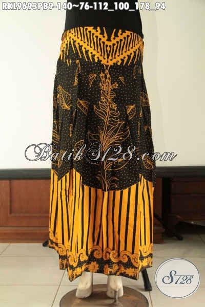 Pusat Busana Batik Online Terpercaya, Jual Bawahan Batik Untuk Wanita Model Klok, Rok Batik Istimewa Di Lengkapi Karet Dibagian Belakang [RKL9693PB-All Size]