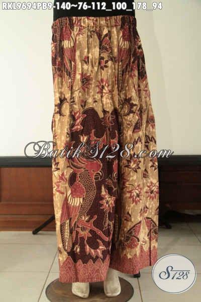 Jual Bawahan Batik Untuk Wanita Muda Maupun Dewasa, Rok Klok Batik All Size Motif Terkini Kwalitas Bagus Di Lengkapi Karet Dibagian Belakang [RKL9694PB-All Size]
