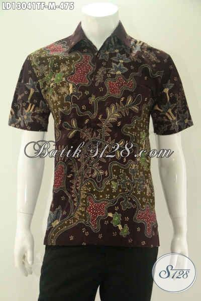 Kemeja Batik Tulis Solo Lengan Pendek Modis Motif Terbaru Jenis Tulis, Baju Batik Modern Nan Istimewa Yang Cocok Buat Ngantor Dan Kondangan Hanya 400 Ribuan [LD13041TF-M]