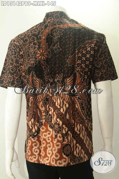 Koleksi Produk Pakaian Batik Pria Kekinian Berbahan Halus Yang Nyaman Di Pakai, Kemeja Batik Solo Kwalitas Istimewa Yang Menunjang Penampilan Terlihat Berkelas [LD13142PB-M , L , XL]