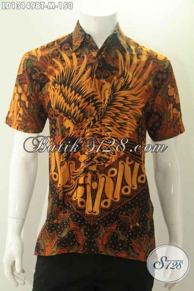 Baju Batik Kombinasi Tulis Buatan Solo Asli Untuk Pria Muda Tampil Beda, Kemeja Batik Halus Motif Elegan Cocok Untuk Acara Resmi Maupun Santai [LD13149BT-M]