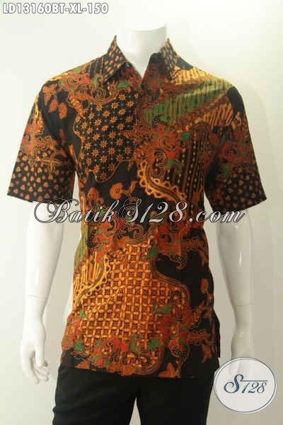 Produk Baju Batik Cowok Khas Jawa Tengah Dengan Motif Elegan Kwalitas Istimewa, Menunjang Penampilan Lebih Menawan [LD13160BT-XL]