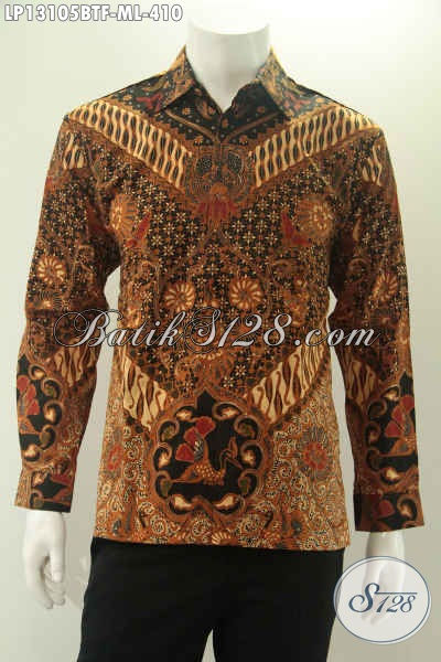 Koleksi Terkini Baju Batik Modern Untuk Pria Muda Dan Dewasa, Pakaian Batik Halus Lengan Panjang Motif Mewah Jenis Kombinasi Tulis Daleman Full Furing, Pas Banget Buat Acara Resmi [LP13105BTF-M]