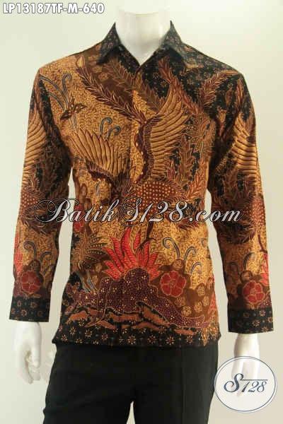 Produk Baju Batik Pria Terbaru Jenis Tulis Motif Keren Model Lengan Panjang Pakai Furing, Pilihan Terbaik Untuk Penampilan Terlihat Gagah Berkelas Hanya 600 Ribuan Saja [LP13187TF-M]