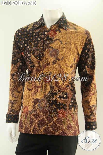 Produk Busana Batik Lengan Panjang Untuk Pria Sukses, Kemeja Batik Premium Full Furing Motif Bagus Jenis Tulis, Di Jual Online 640K [LP13190TF-L]