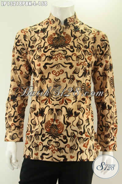Batik Kemeja Pria Model Koko Atau Kerah Shanghai Kwalitas Istimewa Cocok Untuk Acara Resmi Maupun Santai, Bahan Halus Lengan Panjang Hanya 158K [LP13218PB-L]