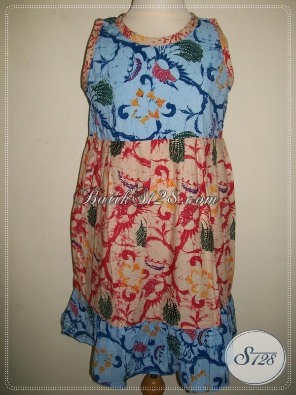 Dress Batik Anak Kecil Tanpa Lengan, Batik Bocah Modern [A018CL]
