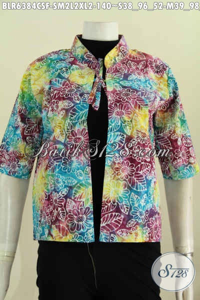 Jual Online Balero Batik Warna Gradasi Kwalitas Halus Proses Cap Smoke Desain Trendy Tampil Makin Bergaya [BLR6384CSF-M , L , XL]